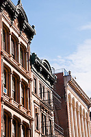 New York, New York City. Greenwich Village building fronts.