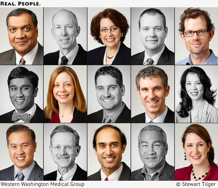 Portraits of Western Washington Medical Group doctors.