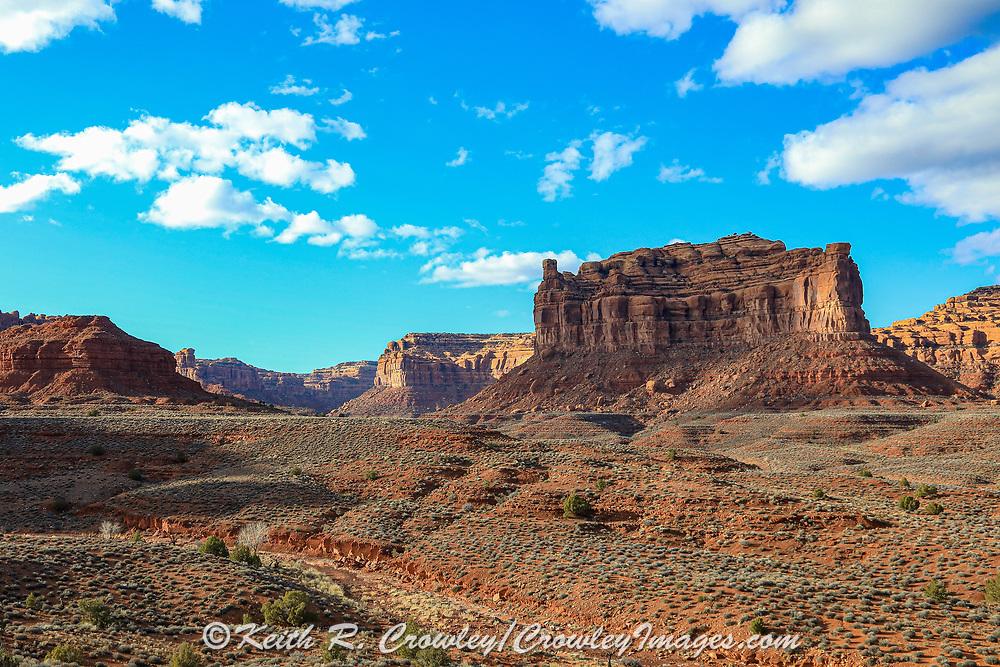 View of Monument Valley on the Arizona-Utah border.