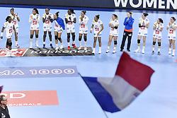 France team jubilates after the Women's european handball chanmpionship preliminary round, Slovenia vs France. Nancy, Fance -02/12/2018//POLEMILE_01POL20181202NAN005/Credit:POL EMILE / SIPA/SIPA/1812021731