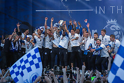Brighton & Hove Albion players celebrate their Promotion to the Premier League - Mandatory by-line: Jason Brown/JMP - 14/05/17 - FOOTBALL - Brighton and Hove Albion, Sky Bet Championship 2017 - Brighton and Hove Albion Promotion Parade