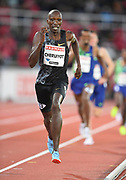 Timothy Cheruiyot (KEN) wins the 1,500m in 3:35.79during the Bauhaus-Galan in a IAAF Diamond League meet at Stockholm Stadium in Stockholm, Sweden on Thursday, May 30, 2019. (Jiro Mochizuki/Image of Sport)