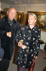 CLARA FISCHER and actor STEVEN BERKOFF at auctioneers Sotheby's Summer party held at their showrooms in 34-35 New Bond Street, London W1 on 6th June 2005.<br />