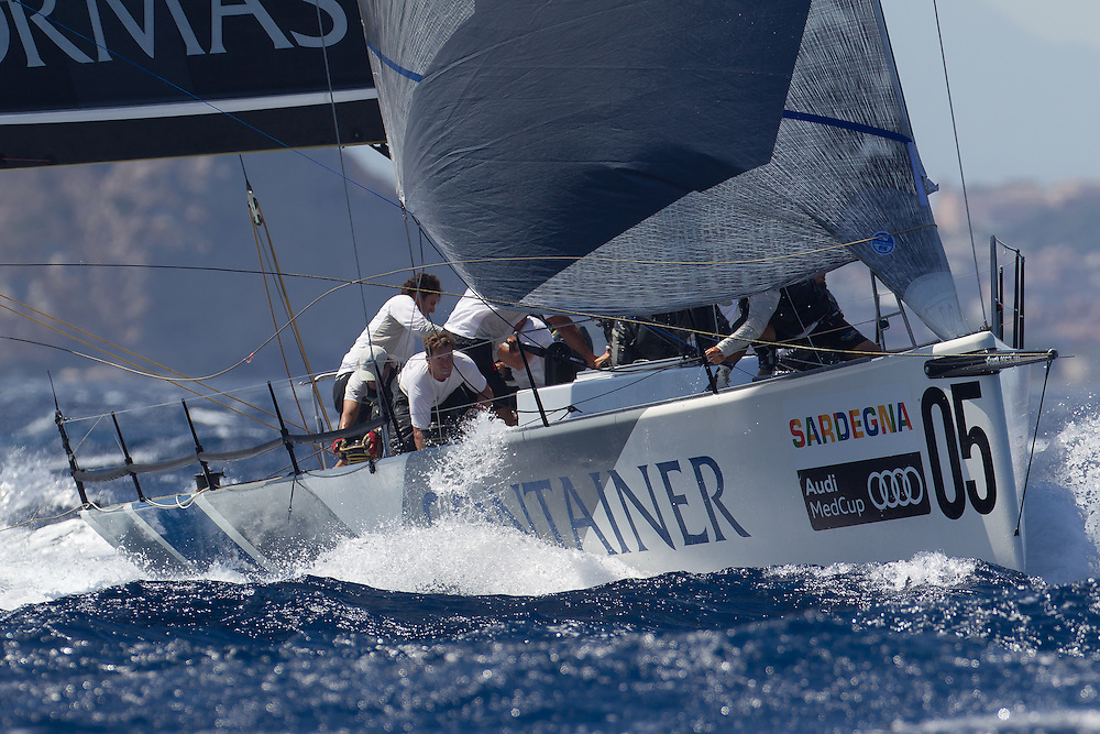 ITALY, Sardinia, Cagliari. 23rd July 2011. AUDI MedCup, Region of Sardinia Trophy. TP52 Coastal Race.  TP52, CONTAINER.