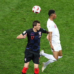 July 11, 2018 - Moscow, Russia - July 11, 2018, Moscow, FIFA World Cup 2018 Football, the playoff round. 1/2 finals of the World Cup. Football match Croatia - England at the stadium Luzhniki. Player of the national team Mario Manjukic. (Credit Image: © Russian Look via ZUMA Wire)