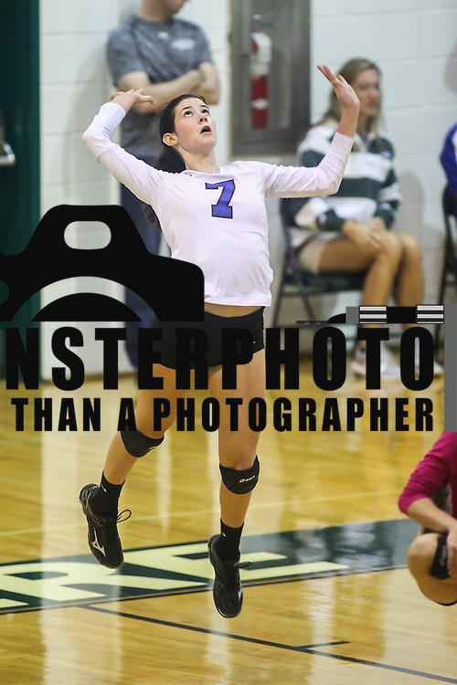 Charter outside hitter Annika Sernyak (7) attempts to serve during the 2nd Round of the 2015 DIAA Girls Volleyball Tournament Saturday, Nov. 07, 2015 at Archmere Academy in Claymont.
