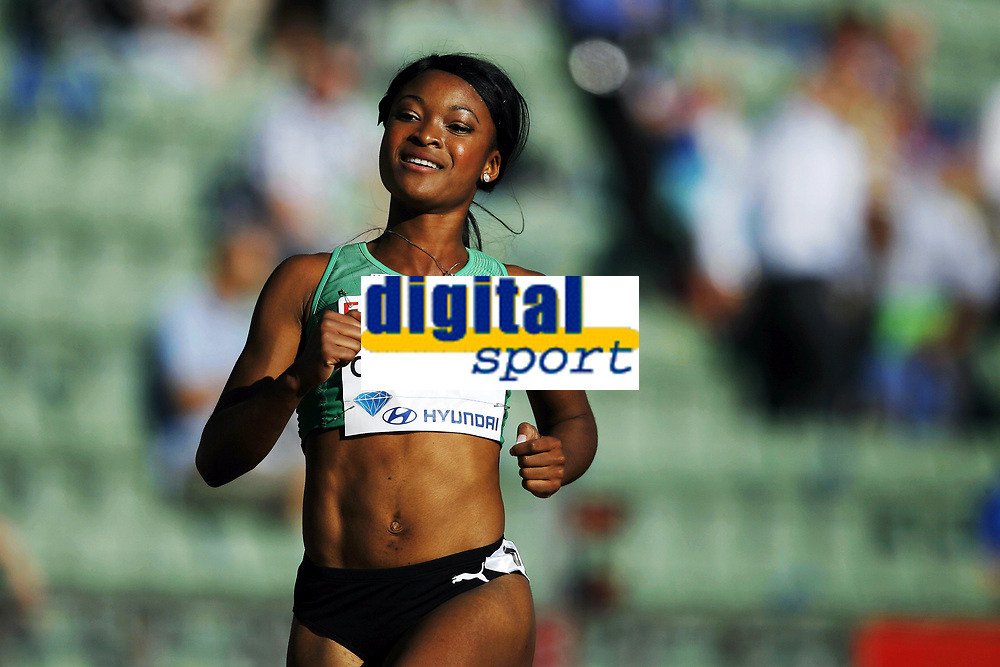 Friidrett, 4. juni 2010,  Diamond League , Bislett Games Oslo<br /> <br /> <br /> Ezinne Okparaebo , satte norsk rekord p&aring; 100 meter