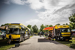 Buses of Team Lotto NL Jumbo one day prior to the 25th Tour de Slovenie 2018 cycling race, on June 12, 2018 in Hotel Livada, Moravske Toplice, Slovenia. Photo by Vid Ponikvar / Sportida