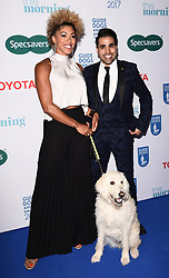 London, UK Dr Zoe Williams and Dr Ranj Singh with Luna at The Guide Dog Of The Year Awards held at The Hurlingham Club, Ranelagh Gardens, London on Wednesday 17 May 2017 <br /> Ref: LMK392 -46019-251113<br /> Vivienne Vincent/Landmark Media. <br /> WWW.LMKMEDIA.COM.