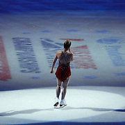 Fourth place finisher Ashley Wagner is seen during the awards ceremony following the championship ladies free skate competition at the 2014 US Figure Skating Championships at the TD Garden on January 11, 2014 in Boston, Massachusetts.