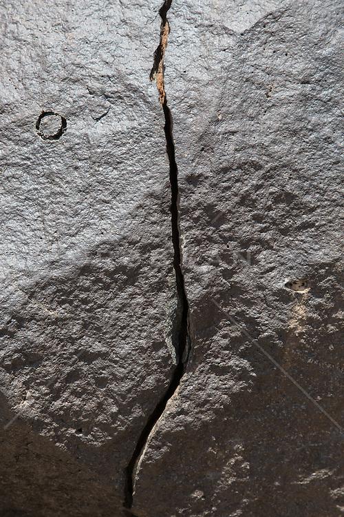 split rock found in New Mexico