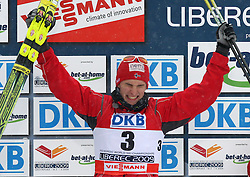 Second placed Jan Schmid of Norway at Nordic Combined Individual Gundersen NH, 10 km, at FIS Nordic World Ski Championships Liberec 2008, on February 22, 2009, in Vestec, Liberec, Czech Republic. (Photo by Vid Ponikvar / Sportida)