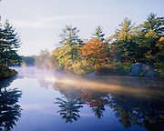 Autumn on Pearce Lake in Breakheart Reservation, Wakefield, MA