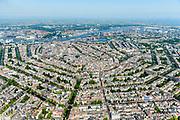 Nederland, Noord-Holland, Amsterdam, 29-06-2018; Grachtengordel gezien vanuit Amsterdam-Zuid, vanaf Rijksmuseum / Nassaukade. Prinsengracht, Keizersgracht, Herengracht worden doorsneden door Leidsegracht.<br /> View of the old town, with belt of canals.<br /> luchtfoto (toeslag op standard tarieven);<br /> aerial photo (additional fee required);<br /> copyright foto/photo Siebe Swart
