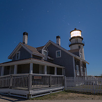 Constellation Orion above Highland Lighthouse, Cape Cod National Seashore