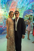 MALIN JEFFERIES; TIM JEFFERIES, Serpentine's Summer party co-hosted with Christopher Kane. 15th Serpentine Pavilion designed by Spanish architects Selgascano. Kensington Gardens. London. 2 July 2015.