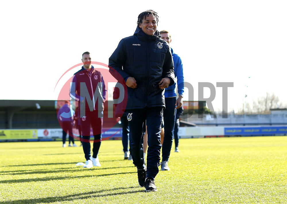 Kyle Bennett of Bristol Rovers arrive at The Cherry Red Records Stadium, for the game against AFC Wimbledon - Mandatory by-line: Robbie Stephenson/JMP - 17/02/2018 - FOOTBALL - Cherry Red Records Stadium - Kingston upon Thames, England - AFC Wimbledon v Bristol Rovers - Sky Bet League One