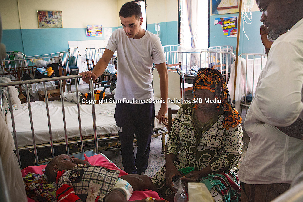 Liam Payne visits an emergency ward at Princess Mary Louise Hospital, Accra, Ghana