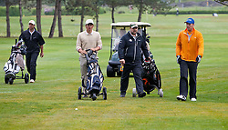 13.05.2011, Golfplatz, Zell am See - Kaprun, AUT, Golf und Ski WM 2011, im Bild Patrik Jaerbyn (SWE), Frederic Berthold (AUT), a Caddy, Bode Miller (USA) // Patrik Jaerbyn (SWE), Frederic Berthold (AUT), a Caddy, Bode Miller (USA) during the Golf and Ski World Championships 2011, Golf Course Zell am See - Kaprun, 2011-05-13, EXPA Pictures © 2011, PhotoCredit: EXPA/ J. Feichter