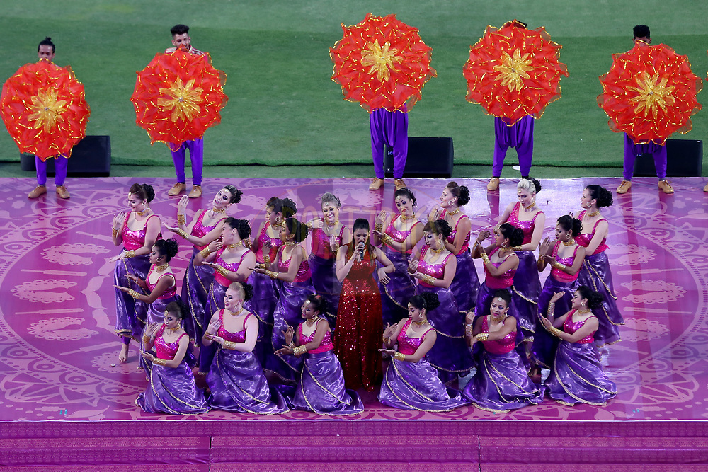 Shalmili Kolgade Singer performing at the opening ceremony during match 2 of the Vivo 2017 Indian Premier League between the Rising Pune Supergiants and the Mumbai Indians held at the MCA Pune International Cricket Stadium in Pune, India on the 6th April 2017<br /> <br /> Photo by Faheem Hussain - IPL - Sportzpics