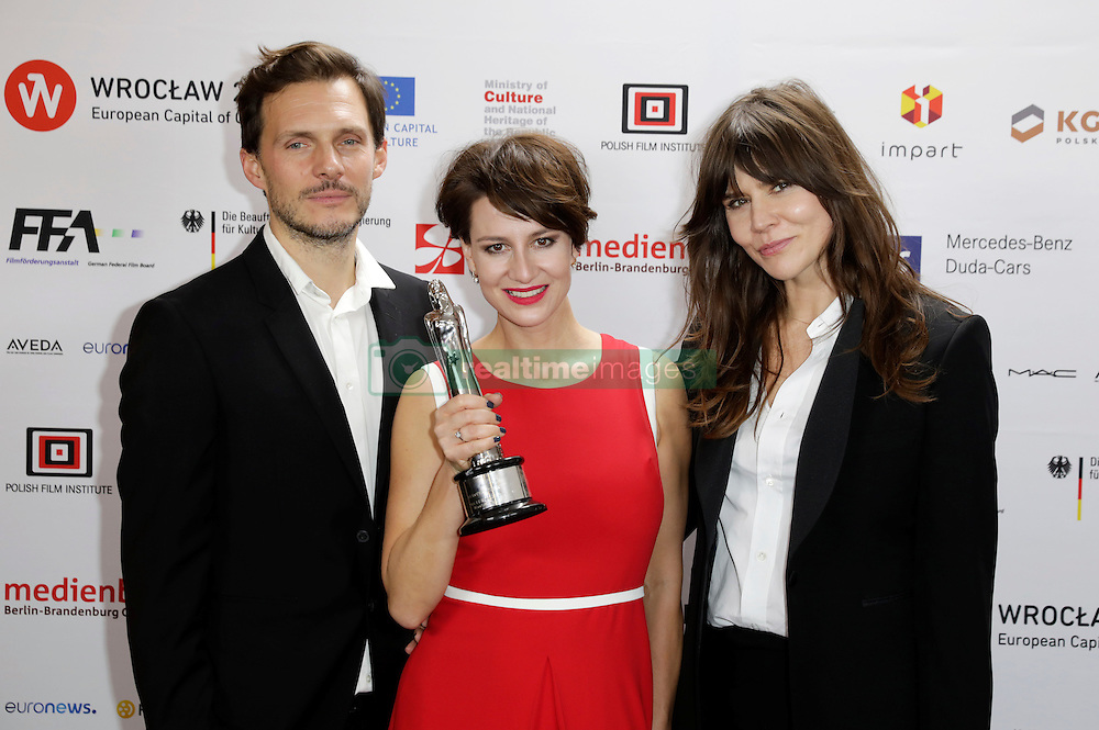 December 10, 2016 - Wroclaw, Lower Silesian, Deutschland - Michal Englert, Maja Ostaszewska and Malgorzata Szumowska attend the 29th European Film Awards 2016 at the National Forum of Music on December 10,2016 in Wroclaw, Poland. (Credit Image: © Future-Image via ZUMA Press)