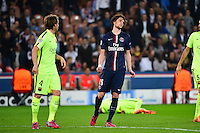 Deception Adrien RABIOT - 15.04.2015 - Paris Saint Germain / Barcelone - 1/4Finale Aller Champions League<br />