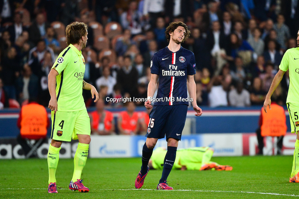 Deception Adrien RABIOT - 15.04.2015 - Paris Saint Germain / Barcelone - 1/4Finale Aller Champions League<br />Photo : Dave Winter / Icon Sport