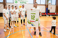 Goran Jagodnik at his end of a career after basketball match between KD Ilirija and KK Mesarija Prunk Sezana in Last Round of 2. SKL  2016/17, on April 15, 2017 in GIB center, Ljubljana, Slovenia. Photo by Vid Ponikvar / Sportida