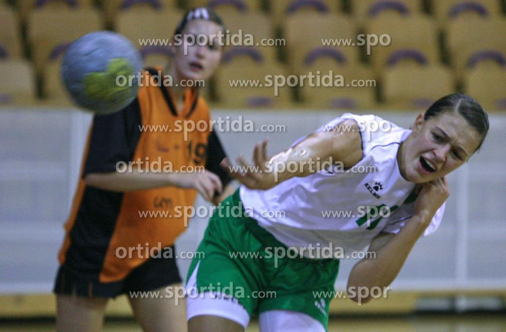 Mirjana Gojkovic of Olimpija at  handball game between women team RK Olimpija vs ZRK Brezice at 1st round of National Championship, on September 13, 2008, in Arena Tivoli, Ljubljana, Slovenija. Olimpija won 41:17. (Photo by Vid Ponikvar / Sportal Images)