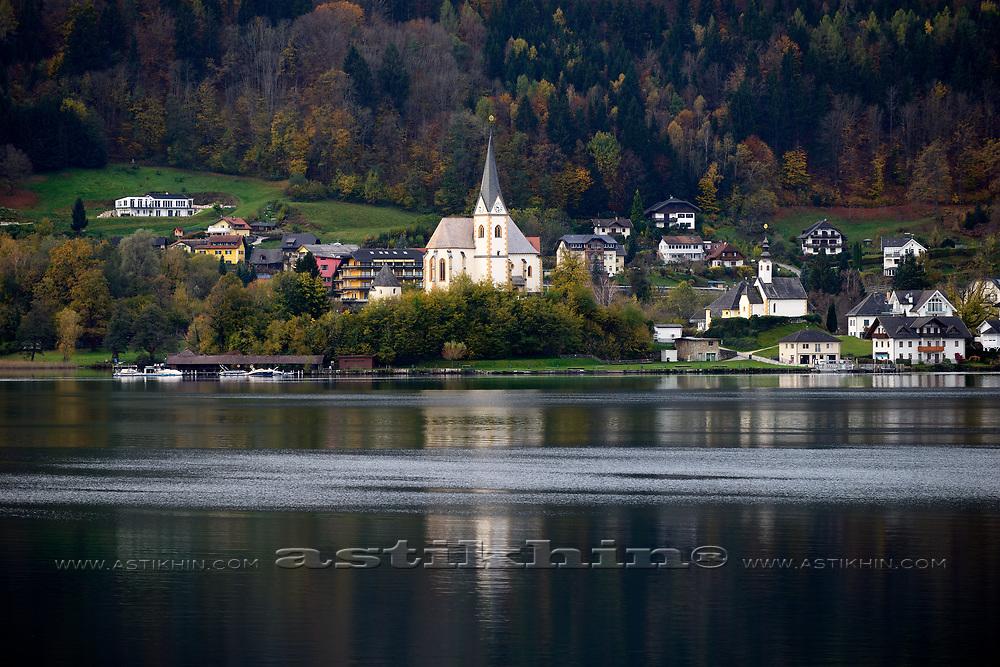 Lake Woerth, Maria Woerth, Keutschach am See, Carinthia, Austria, Europe