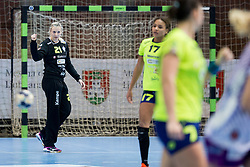 Amra Pandzic of RK Krim Mercator during handball match between RK Krim Mercator and FC Midtjylland in Main Round of Women's EHF Champions League 2017/18 , on January 27, 2018 in Sports hall Kodeljevo, Ljubljana, Slovenia. Photo by Urban Urbanc / Sportida