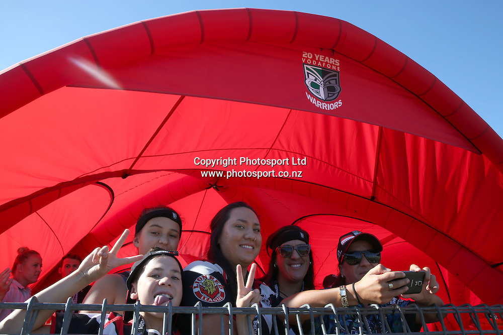 The Members Zone during the NRL Rugby League match between the NZ Warriors and the Parramatta Eels played at Mt Smart Stadium in South Auckland on the 21st March 2015. <br /> <br /> Copyright Photo; Peter Meecham/ www.photosport.co.nz