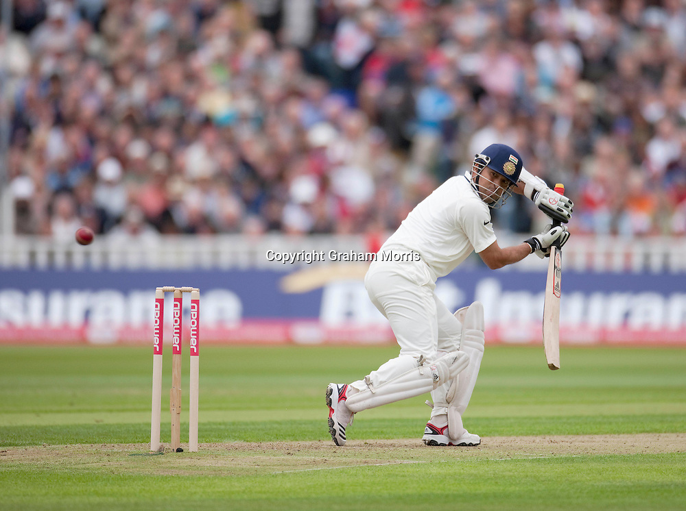Sachin Tendulkar out caught off Stuart Broad for one run during the third npower Test Match between England and India at Edgbaston, Birmingham.  Photo: Graham Morris (Tel: +44(0)20 8969 4192 Email: sales@cricketpix.com) 10/08/11
