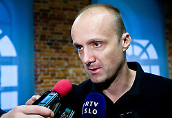 Head coach of Slovenia Jure Zdovc at the press conference  in a Andel's Hotel during Eurobasket 2009, on September 15, 2009 in  Lodz, Poland.  (Photo by Vid Ponikvar / Sportida)