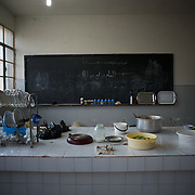 August 11, 2012 - Azaz, Aleppo, Syria: View of a communal kitchen in an improvised refugee center in Azaz, where 32 families who fled the combat areas are temporarily living. (Paulo Nunes dos Santos/Polaris)
