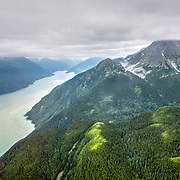 On the way to the Glaciers by helicopter. Skagway, Alaska.