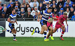 Matt Banahan of Bath Rugby in attack - Photo mandatory by-line: Patrick Khachfe/JMP - Mobile: 07966 386802 01/11/2014 - SPORT - RUGBY UNION - Bath - The Recreation Ground - Bath Rugby v London Welsh - LV= Cup
