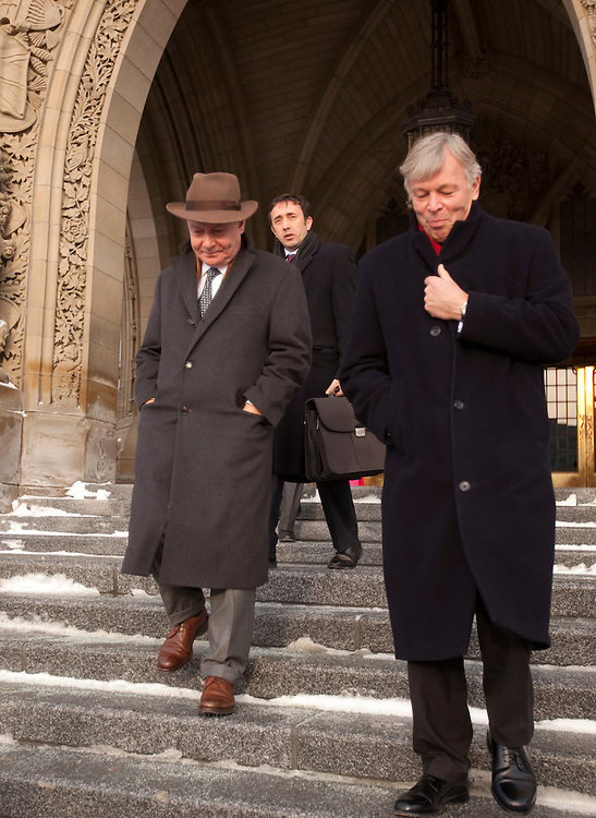 Karel De Gucht, European Commissioner for Trade departs Parliament Hill in Ottawa, Canada December 15, 2010 following a meeting with Canada's Minister of International Trade Peter Van Loan.<br /> AFP/GEOFF ROBINS/STR