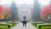 Foggy day on campus at Gonzaga. (Photo by Rajah Bose)