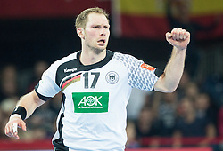 Steffen Weinhold of Germany reacts during handball match between National teams of Spain and Germany on Day 2 in Preliminary Round of Men's EHF EURO 2016, on January 15, 2016 in Centennial Hall, Wroclaw, Poland. Photo by Vid Ponikvar / Sportida