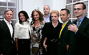 (L-R) Tommy Hilfiger, Candy Pratt Price, Diane Von Furstenberg, Reed Krakoff, Carolina Herrera and Francisco Costa pose after the 2008 CFDA Fashion Awards Nominee Announcement in the Rooftop Gardens at Rockefeller Center  in New York City, USA on March 10, 2008.