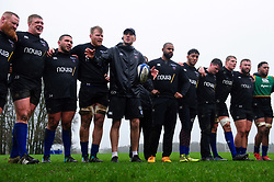 Bath Rugby first team coach Girvan Dempsey speaks to his team in a huddle - Mandatory byline: Patrick Khachfe/JMP - 07966 386802 - 16/01/2020 - RUGBY UNION - Farleigh House - Bath, England - Bath Rugby Training Session