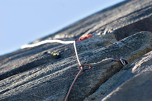 Climbing rope in Squamish, BC, Canada.<br />