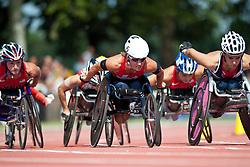 WOLF Edith, JONES Jade, SUI, GBR, 1500m, T54, 2013 IPC Athletics World Championships, Lyon, France