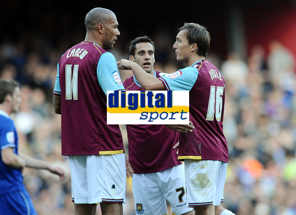 Football - The Championship - West Ham United vs. Leicester City<br /> John Carew - WHUtalks with Mark Noble