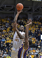 WICHITA, KS - JANUARY 05:  Forward Kadeem Coleby #20 of the Wichita State Shockers puts up a shot against the Northern Iowa Panthers during the first half on January 5, 2014 at Charles Koch Arena in Wichita, Kansas.  (Photo by Peter Aiken/Getty Images) *** Local Caption *** Kadeem Coleby