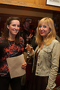 FLEUR MACDONALD; ANNA BADDELEY, The Omnivore hosts the third Hatchet  Job of the Year Award. Sponsored by the Fish Society.  The Coach and Horses. Greek st. Soho. London. 11 February 2014.
