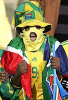Fotball<br /> Sør Afrika v New Zealand<br /> Foto: Gepa/Digitalsport<br /> NORWAY ONLY<br /> <br /> FIFA Confederations Cup 2009<br /> <br /> Bild zeigt einen Fan von Suedafrika<br /> Supportere / Fans / Sør Afrika