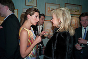BLAIR CLARKE; HILARY GEARY, An exhibition of watercolours by William Rayner at Mallet's, New Bond St. Party afterwards at Bellami's, bruton Place. London. 16 June 2010. .-DO NOT ARCHIVE-© Copyright Photograph by Dafydd Jones. 248 Clapham Rd. London SW9 0PZ. Tel 0207 820 0771. www.dafjones.com.
