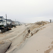 Hurricane Ida beach erosion, Lavalette, NJ. boardwalk